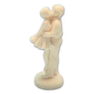 Item # 11186 - Liefdes Koppel Marmer Kussend - Maat 14,5 cm