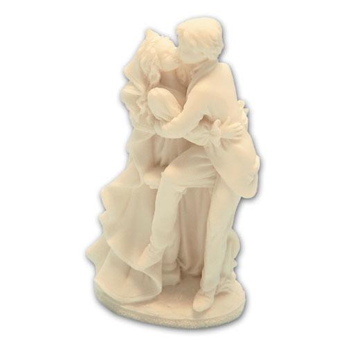 Item # 11187 - Bruidspaar Kussend Bij Ballustrade - Maat 14,5 cm