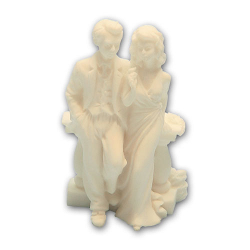 Item # 11643 - Bruidspaar Marmer bij Ballustrade - Maat 8,5 cm