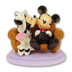 Item # 305183 - Mickey & Minnie op Bankje - Maat 15 cm