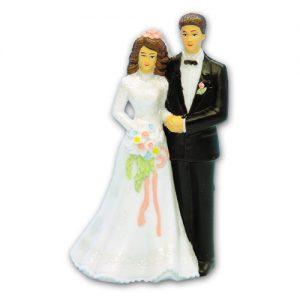Item # 390 - Bruidspaar Figurine Kunststof - Maat 12 cm