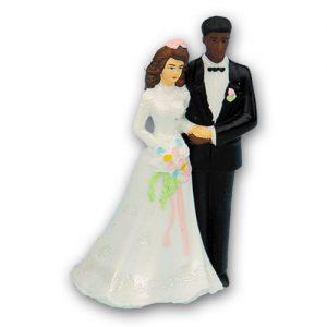 Item # 390BLBR - BP Blanke Bruid met Donkere Bruidegom