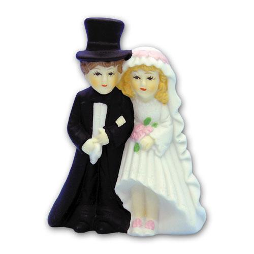 Item # 490 - Bruidspaar Figurine Porselein - Maat 11,5 cm