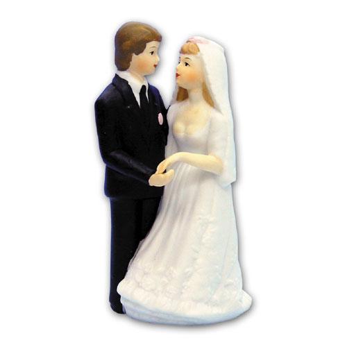 Item # 690 - Bruidspaar Figurine Porselein - Maat 14 cm