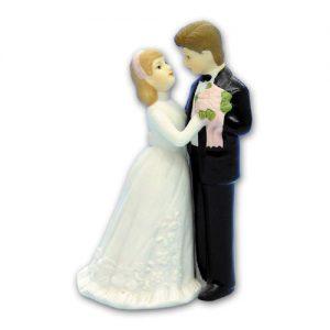Item # 890 - Bruidspaar Figurine Porselein - Maat 13 cm