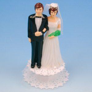 Bruidspaar Kunststof op voet