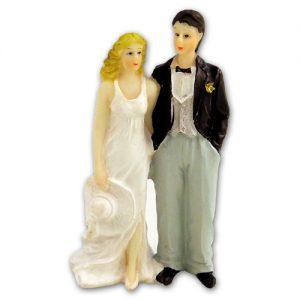 Item # 201 - Bruidspaar met Hoed Polystone