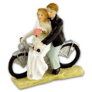 Item # 202 - Bruidspaar op Motorfiets Polystone