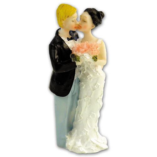 Item # 203 - Bruidspaar met Bloemenboeket Polystone