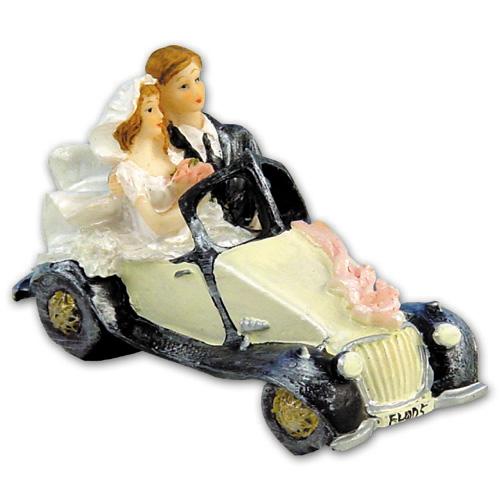 Item # 206 - Bruidspaar in Auto Polystone