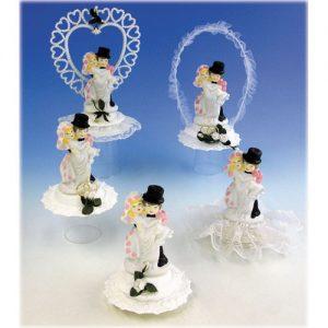 Item # 500 - Voordeel set van 5 stuks porseleinen bruidsparen