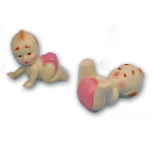 Item # 661 - Baby meisjes 2 Modellen Ca. 3 cm - 24 Stuks