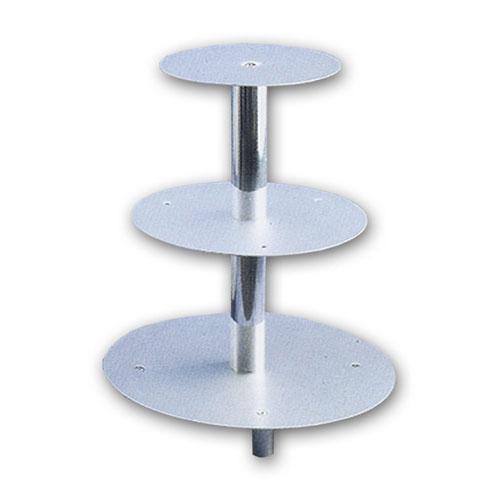 Item # 54003 - Taart Standaard Aluminium 3 Etages - H 40 cm