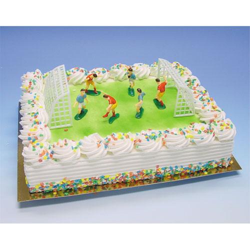 Item # 101911 - TaartSet: Voetballers met Goals - 1 Set