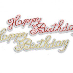 """""""Happy Birthday"""" Plaatje Klein - 144 Stuks per doosje-0"""