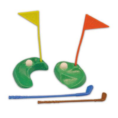 Item # 1443 - Golf Green Setje 6 Delig Plastic - 12 Sets