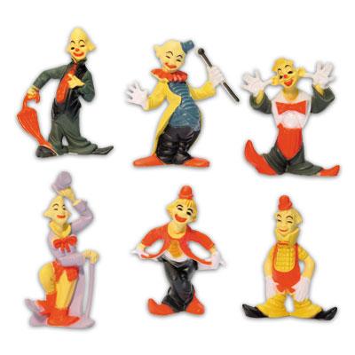 Item # 1902 - Clowntjes Set - Ca. 6,5 cm - 6 Modellen per setje