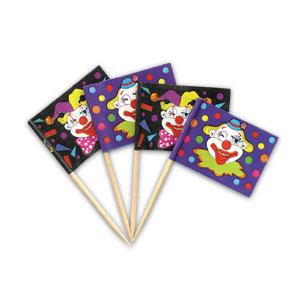 Item # 1928 - Clown Vlaggetjes Prikkers - 720 Stuks per doosje