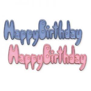 "Item # 1929 - ""Happy Birthday"" Plaatje Groot - 72 Stuks"