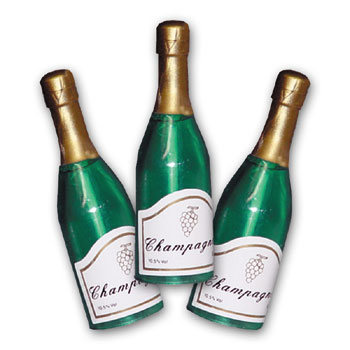 Item # 5693 - Champagne Flesjes Groot - Ca. 7,5 cm - 48 Stuks
