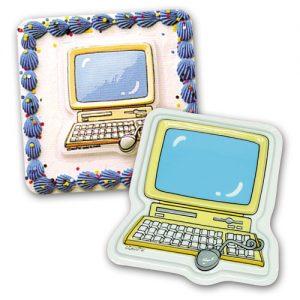 Item # 9968 - DecoPlacs: Computer - 12 Stuks