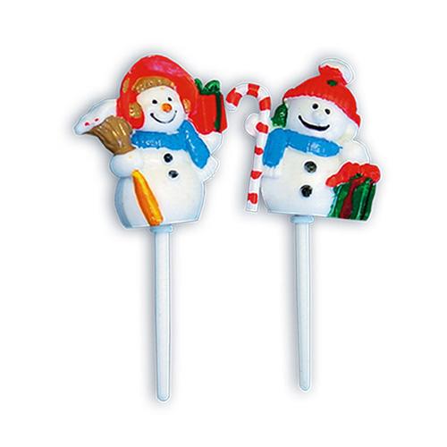 Sneeuwpop Prikkertjes - 48 Stuks per zak