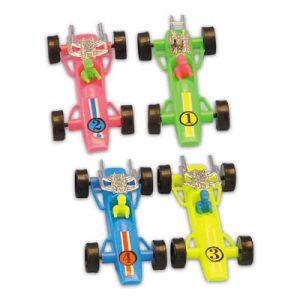 Item # 1389 - Race Auto's Plastic - Ca. 10 cm - 72 Stuks