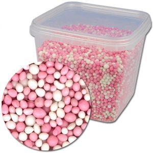 Item # 419017 - Geboorte Muisjes Mix: Roze & Wit - 750g