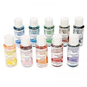 Voedingskleurstof Vloeibaar / Airbrush Set - 10 x 50ml