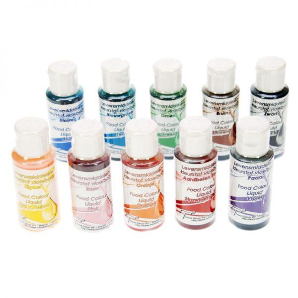 levensmiddelen kleurstof set van 10