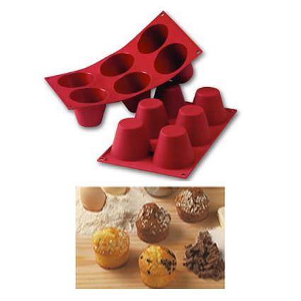 Item # SF052 - Sil. Bakvorm Grote Muffins - Ø75 h 60 mm - 1 st