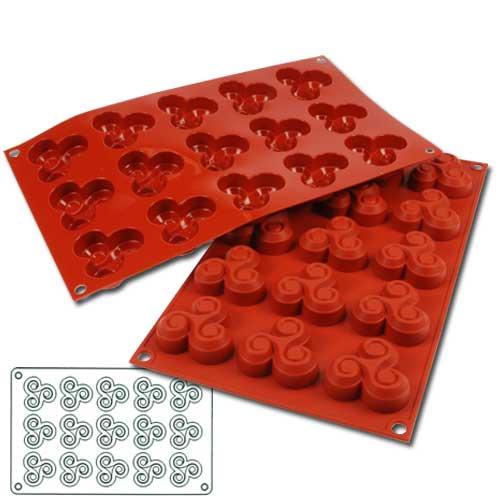 """Siliconflex Siliconen Bakvorm """"Kleine Triskell"""" - 50x50h17mm - 1 stuks-0"""