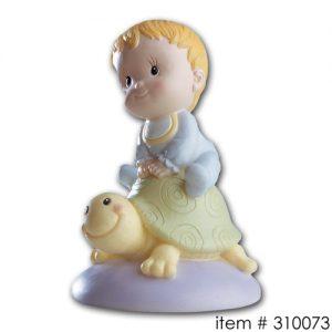 item # 310073J - Baby op schildpadje - Jongen