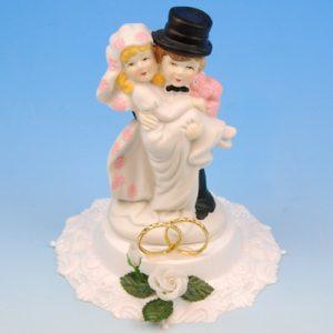 Bruidspaar Porselein 'ringen' - 1 Stuks