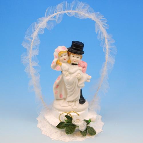 Bruidspaar Porselein 'boog' - 1 Stuks