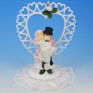 Bruidspaar Porselein (hart) - 1 Stuks