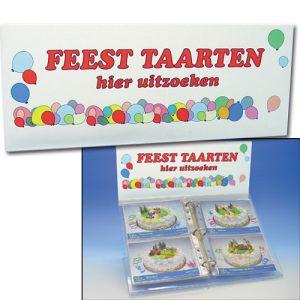 """Foto Display """"Feest Taarten hier"""