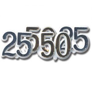 "Item # 166/25 - Cijfer ""25"" Zilver"