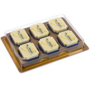 Item #543026 - Doosjes voor logo Bonbons 6 vaks - 100 stuks