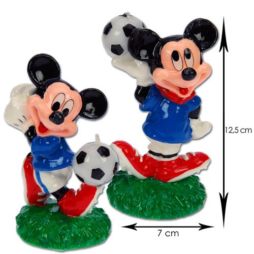 Item # 200920 - WD-DCB20 - Voetbal Mickey Groot - Kaarsjes 6 st