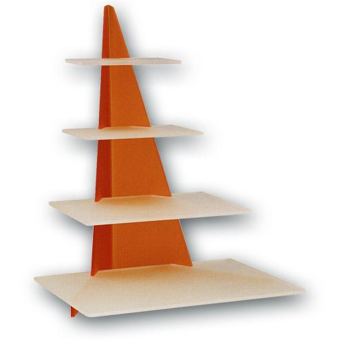 """Taart standaard """"Orange Rechthoek"""""""