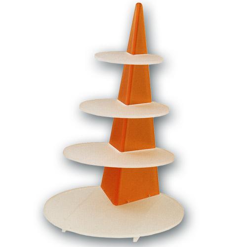 """Taart standaard """"Orange Rond"""""""