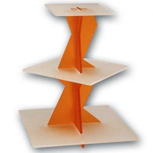 """Taart standaard """"Orange Vierkant"""""""