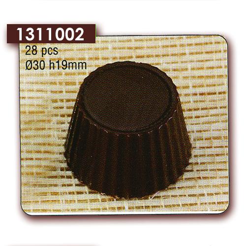 Polycarbonaat Bonbon Chocoladevorm Rond gekarteld