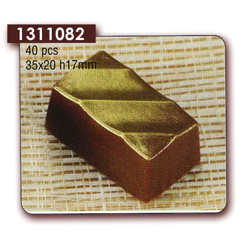 Polycarbonaat Bonbon Chocoladevorm Rechthoek Diagonale Streep