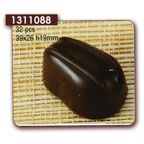 Polycarbonaat Bonbon Chocoladevorm Ovaal met 2 Strepen