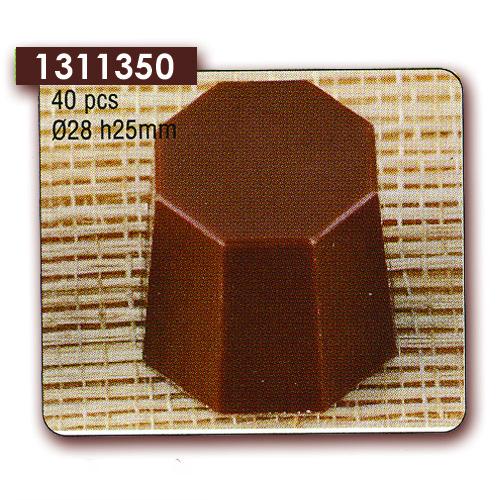 Polycarbonaat Bonbon Chocoladevorm Achthoek
