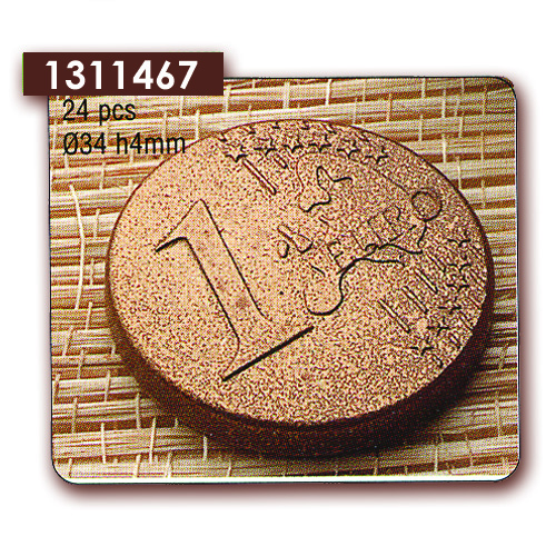 Polycarbonaat Bonbon Chocoladevorm Euro Munt
