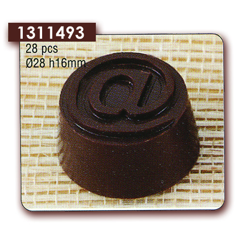Polycarbonaat Bonbon Chocoladevorm Rond Apenstaartje