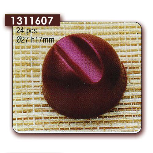 Polycarbonaat Bonbon Chocoladevorm Bol met streep
